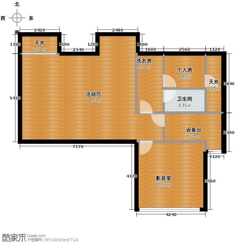 运河岸上的院子92.05㎡AN3地下室平面图户型10室