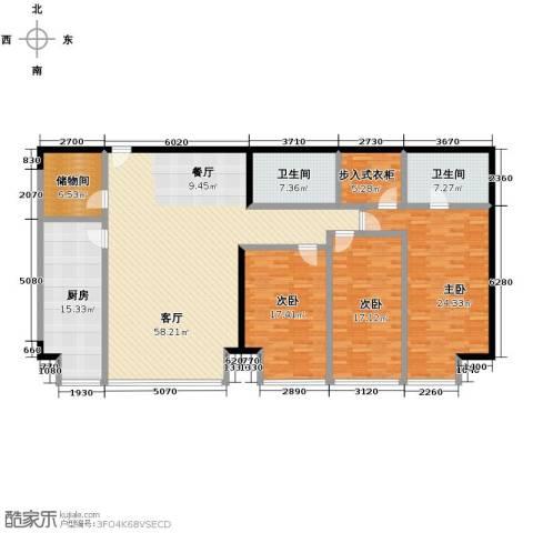德胜君玺3室2厅2卫0厨224.00㎡户型图
