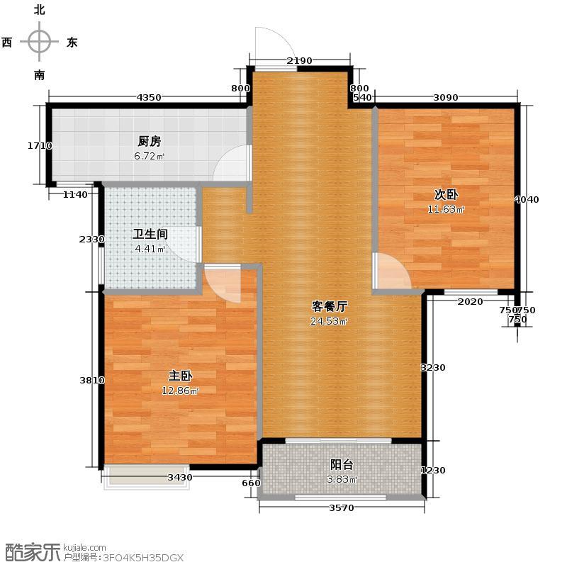 奥克斯盛世年华142.00㎡B3\'1F户型3室2厅2卫