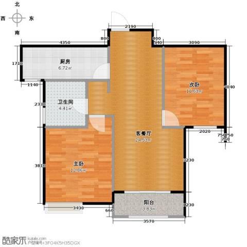 奥克斯盛世年华3室2厅2卫0厨142.00㎡户型图