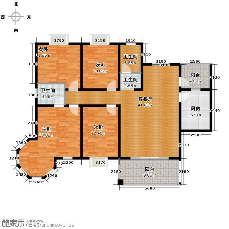 平安象湖风情143.60㎡户型10室