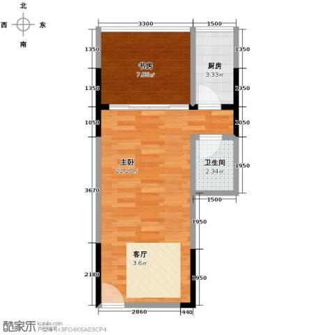 长帆江岸公馆2室0厅1卫1厨40.00㎡户型图