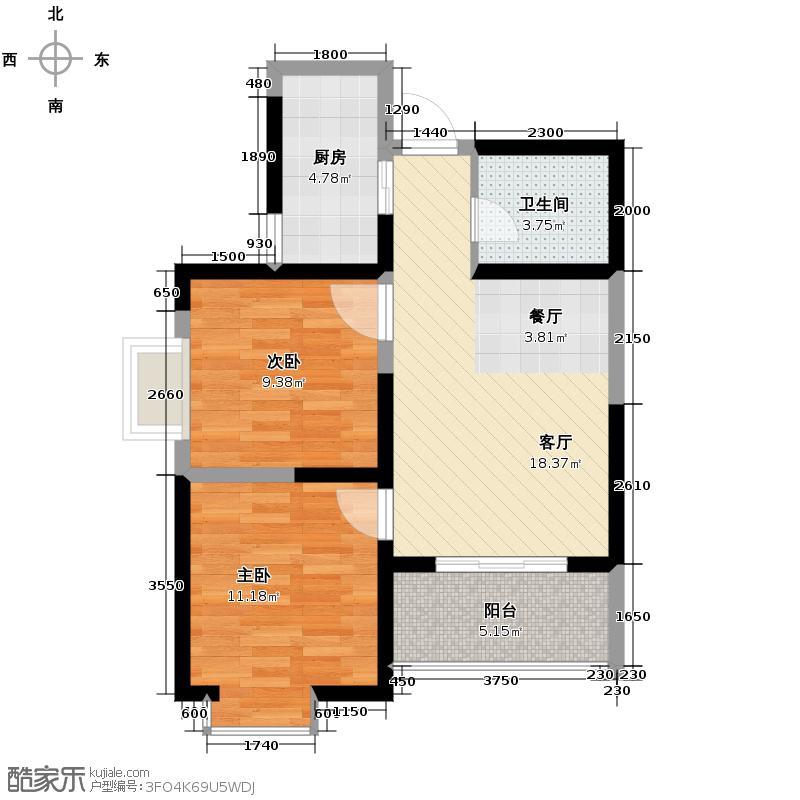 美寓华庭三期高新尚居61.13㎡美寓华庭户型10室