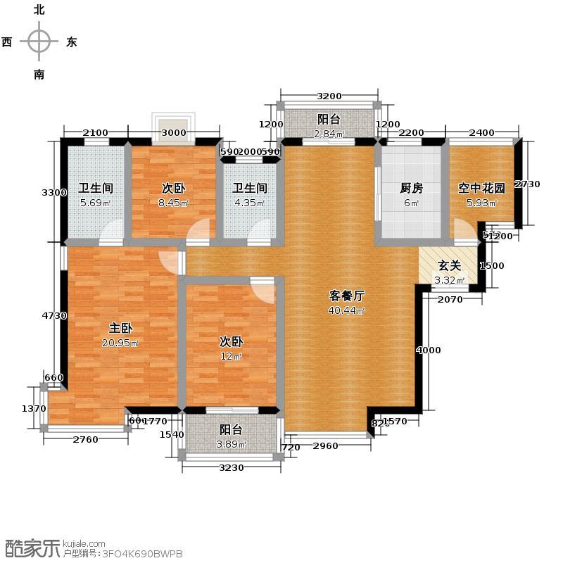 紫薇曲江意境127.80㎡3、14号楼B-1户型10室