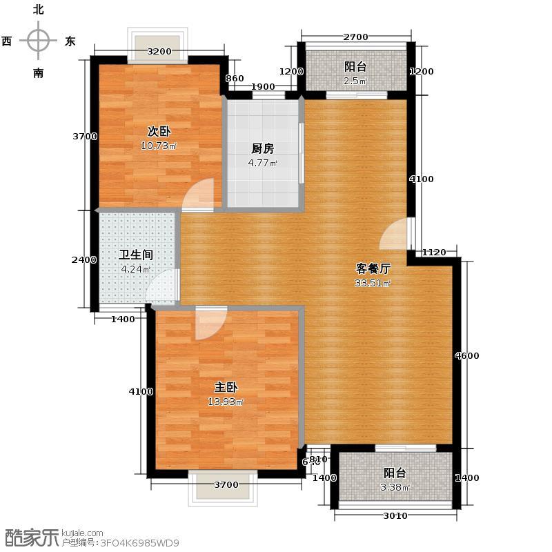 中兴和园80.77㎡户型10室