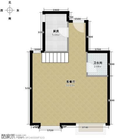 星河1851厅1卫1厨62.00㎡户型图