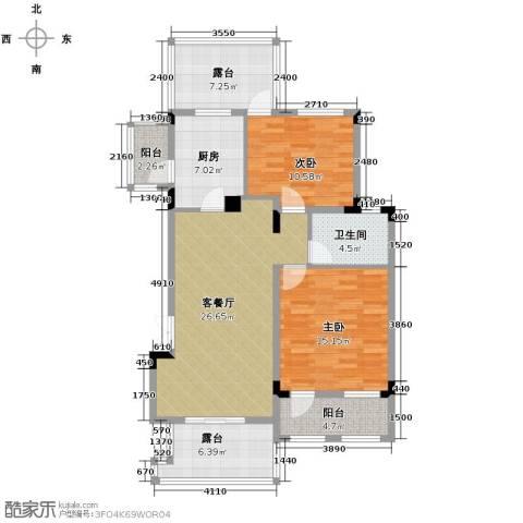 当代安普顿小镇2室2厅1卫0厨103.00㎡户型图