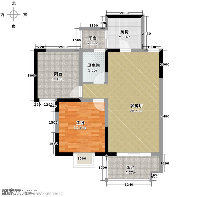 慕和南道80.02㎡12栋9-2奇数层直入式门厅加超大空中花园容纳对生活的所有幻想户型1室1厅1卫1厨