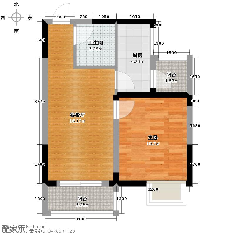香港城45.93㎡户型10室