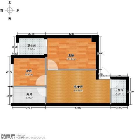 锦业时代2室1厅1卫0厨58.00㎡户型图