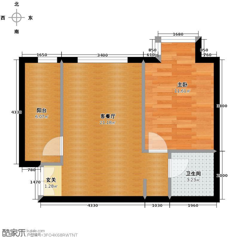 北京新天地60.47㎡30号楼H-H反户型10室