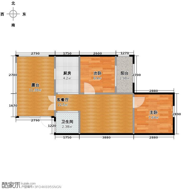 青城花语墅39.00㎡三期c3户型10室