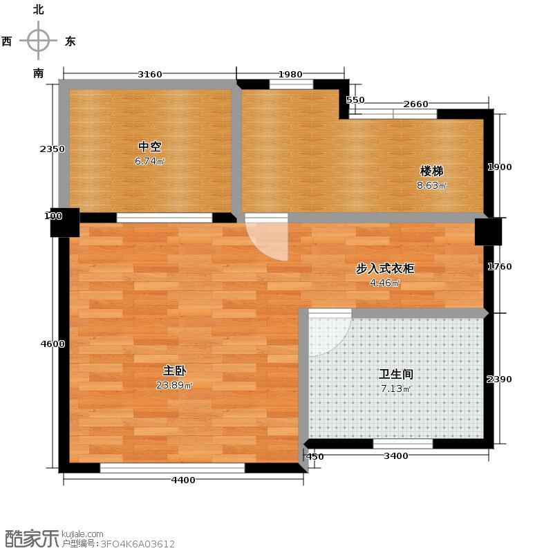 联发滨海琴墅47.00㎡别墅E2三层户型2室