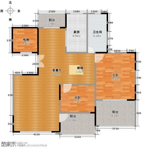 天一城2室1厅1卫1厨133.00㎡户型图