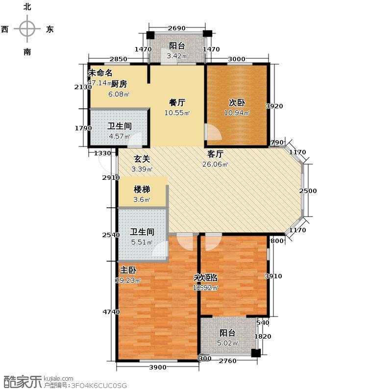 上院155.89㎡27A1户型3室2厅2卫
