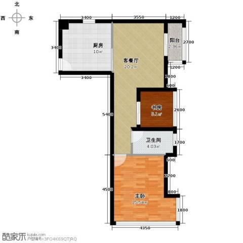 光谷8号1室1厅1卫0厨61.00㎡户型图