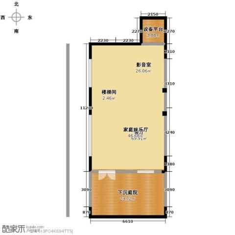 中惠团泊湾132.00㎡户型图