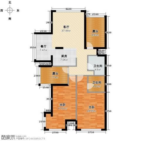 海棠公社2室1厅2卫0厨139.00㎡户型图