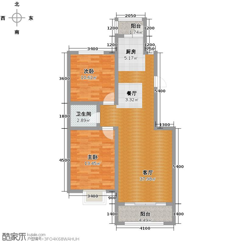 新发翡翠花溪81.63㎡户型10室