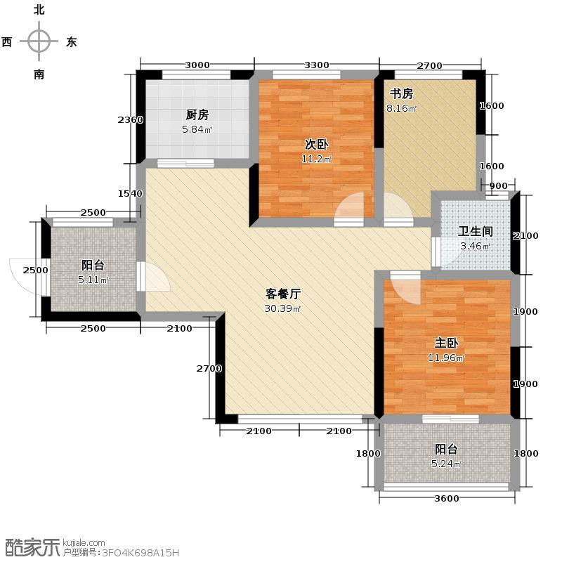 香缇溪岸104.41㎡G8――户型3室2厅1卫