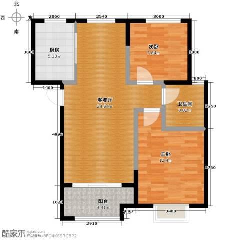 卓达・太阳城2室2厅1卫0厨84.00㎡户型图