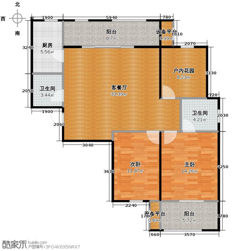 曲江千林郡120.66㎡在售B1超大客厅61米北向阳台南向双卧户型3室2厅2卫