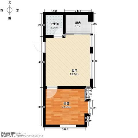 海河大道宽景公寓57.00㎡户型图
