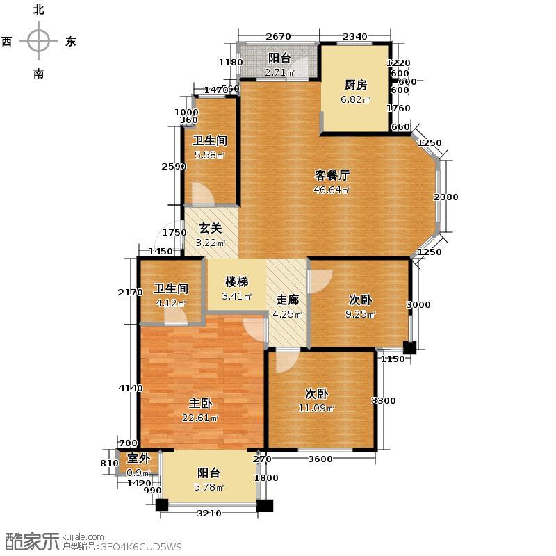 上院148.93㎡25A1户型3室1厅2卫