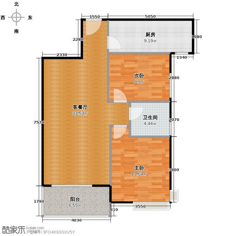 紫薇曲江意境82.81㎡5、8、10、12号楼A-4户型10室