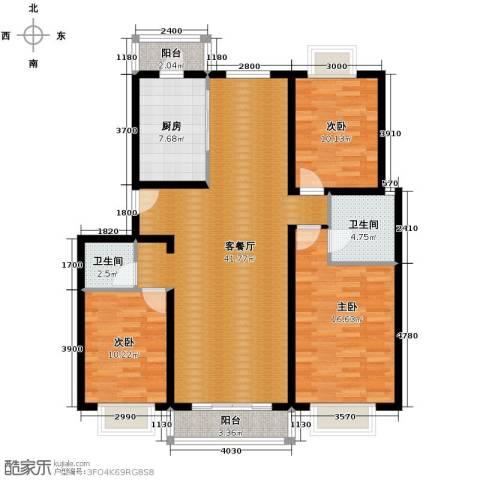 京东领秀城2室2厅2卫0厨122.00㎡户型图