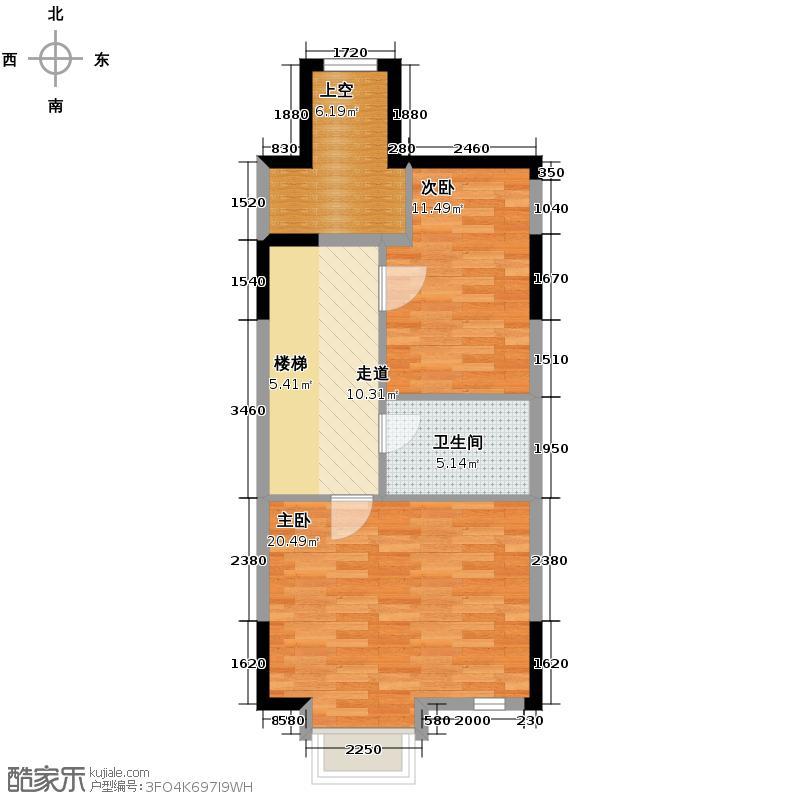 天房锦园199.00㎡B三层户型5室2厅3卫