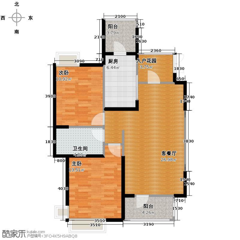 香邑国际99.71㎡010911161718号楼户型10室