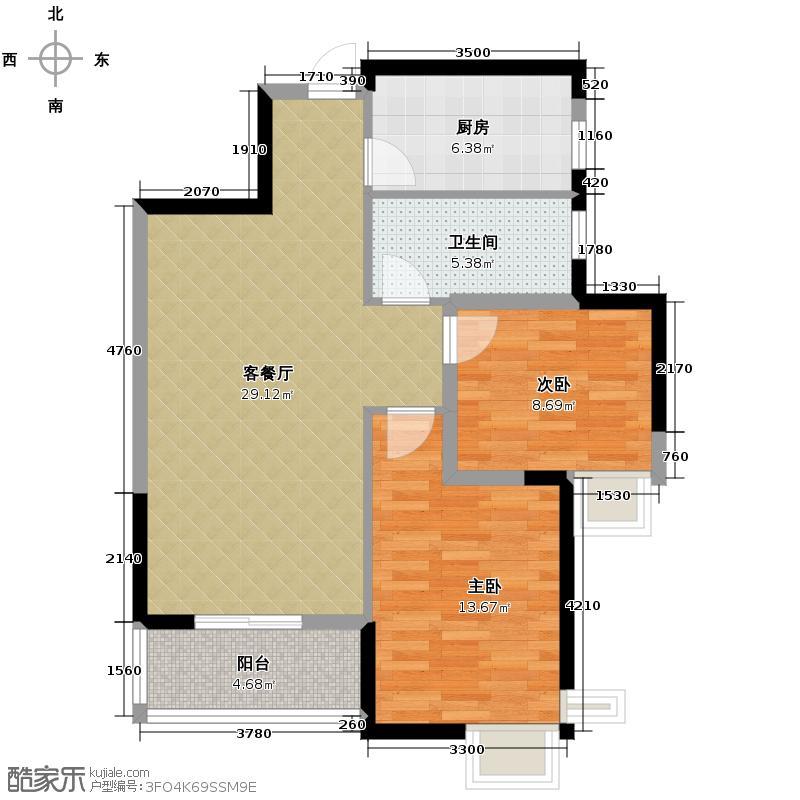 长安中央广场89.43㎡1号楼/2号楼B2户型10室
