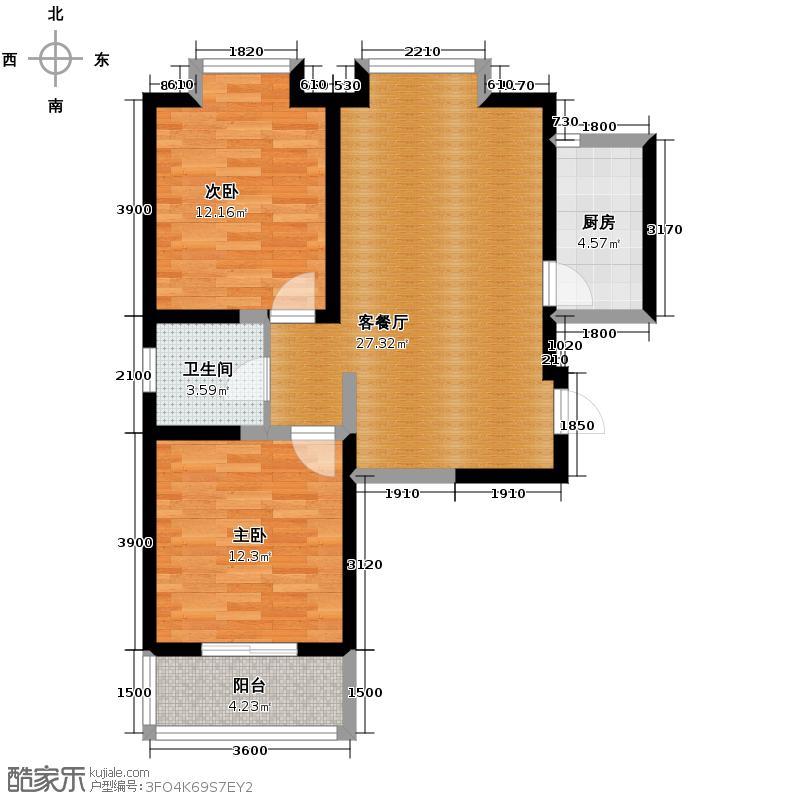 美寓华庭三期高新尚居73.98㎡美寓华庭户型10室