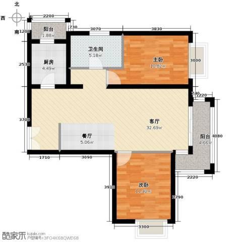 金润凤凰洲2室2厅1卫0厨102.00㎡户型图