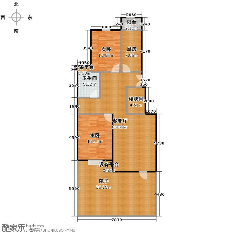 北京奥林匹克花园102.19㎡B1-XY1上层户型10室