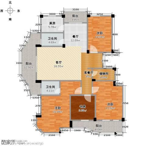 丁香花园4室1厅2卫1厨171.00㎡户型图