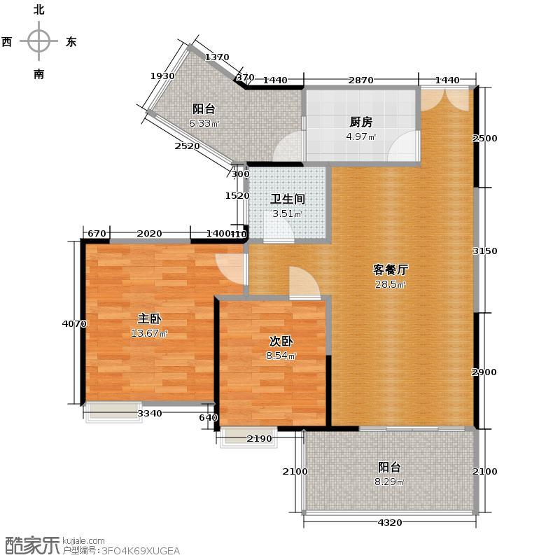 宏达世纪锦城85.00㎡D5a单卫户型10室