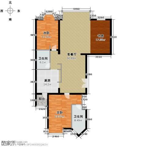 公园18723室2厅2卫0厨192.00㎡户型图