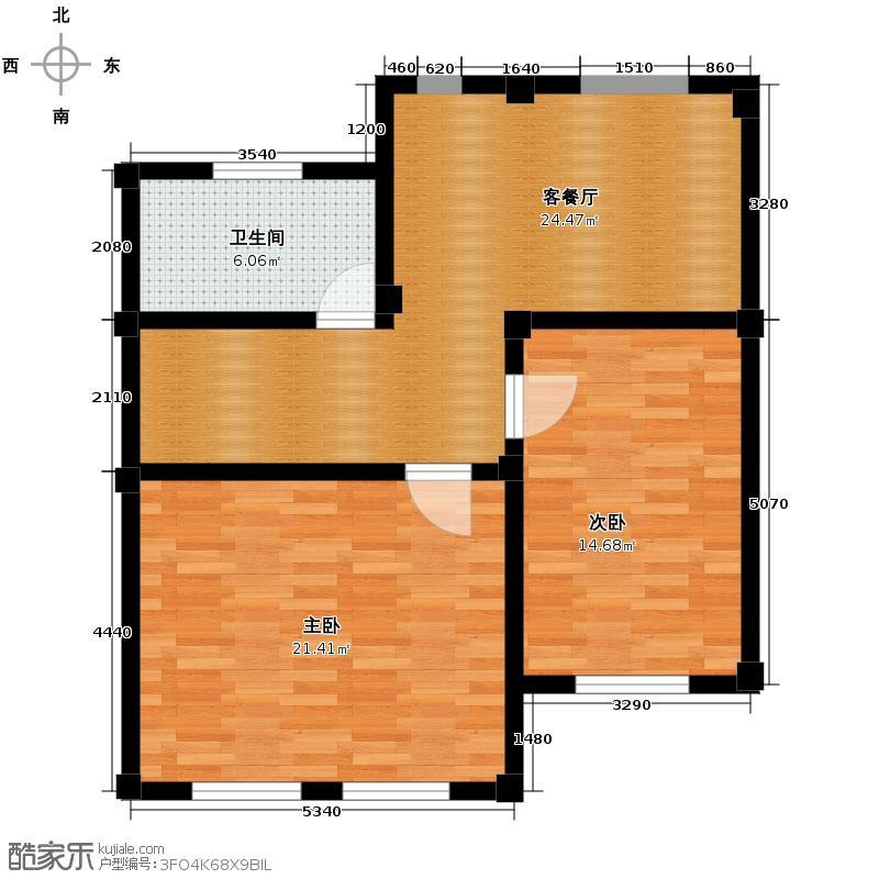 大唐壹号领馆75.67㎡3/5号楼02二层户型10室