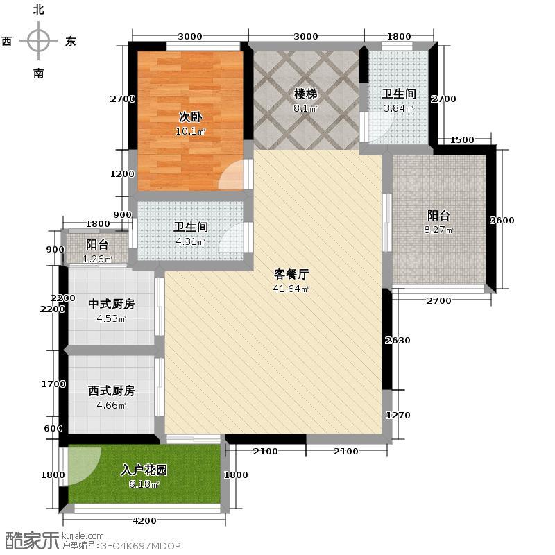 长江楚韵205.00㎡T3A复式户型2室2厅1卫