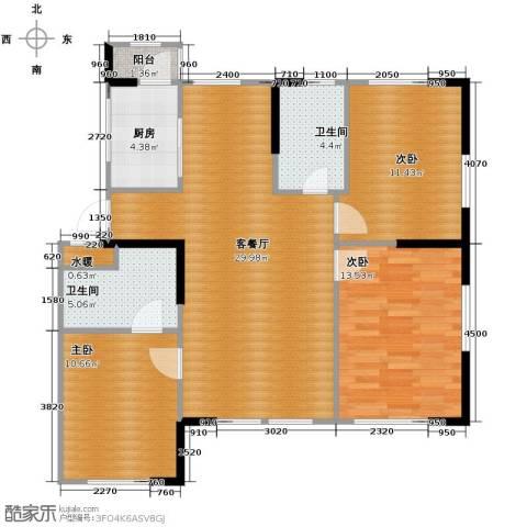 温莎小镇3室2厅2卫0厨111.00㎡户型图