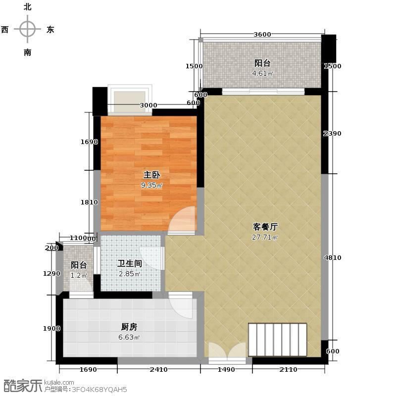 宏达世纪锦城99.00㎡D2双卫跃层下户型10室