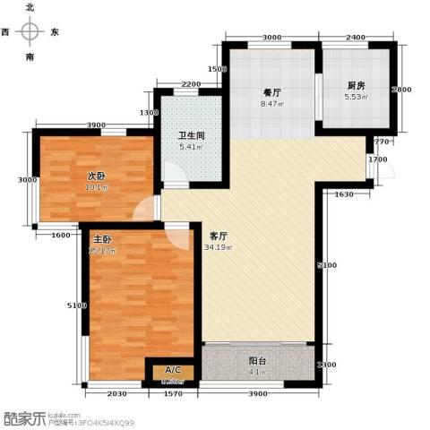 松江运河城2室2厅1卫0厨108.00㎡户型图