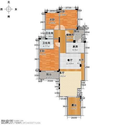 当代安普顿小镇3室2厅2卫0厨121.00㎡户型图