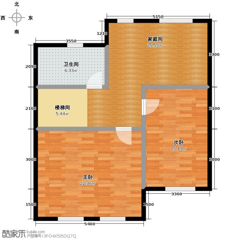 大唐壹号领馆76.88㎡3/5#楼-02二层户型2室1厅1卫