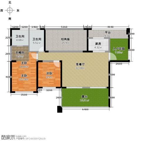 长城半岛城邦2室1厅2卫1厨160.00㎡户型图