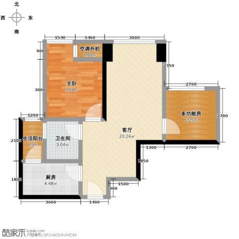 东原亲亲里1室1厅1卫1厨49.00㎡户型图