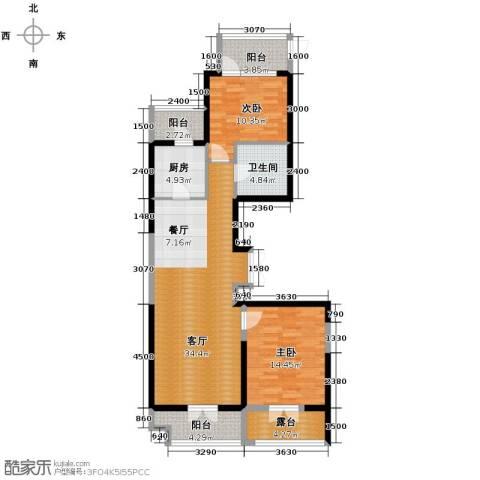 河东万达广场121.00㎡户型图