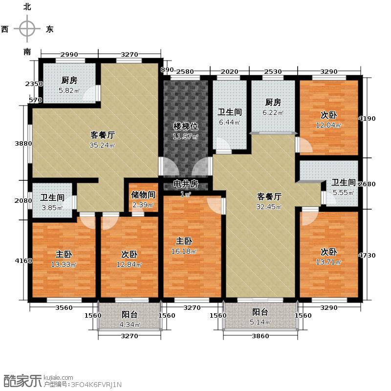 丽和阳光城215.83㎡户型10室